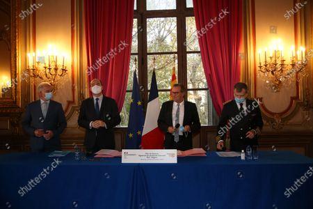 Alain Griset, Jean Castex, Renaud Muselier, Christophe Mirmand.