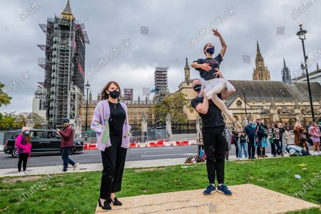 Arlene Phillips lends her support - Ballet dancers perform for Survival in the Square - One of a series of creative activations taking place each day in Parliament Square. The aim is to showcase the breadth of live events and the technical supply chain that support them, and that live events need government policies in place to help people to return to work and further financial aid until everyone can return.