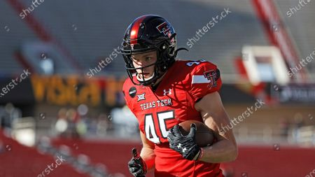 Texas Tech's Austin Brougham (45) during an NCAA college football game against West Virginia, in Lubbock, Texas