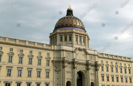 Exterior view of the Humboldt Forum in the New Berlin City Palace in Berlin, Germany, . In the summer of 2002 the German Bundestag passed a resolution to reconstruct the Berlin City Palace as the Humboldt Forum which will be opened partly late 2020