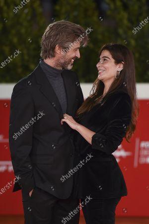 Kim Rossi Stuart with his wife Ilaria Spada