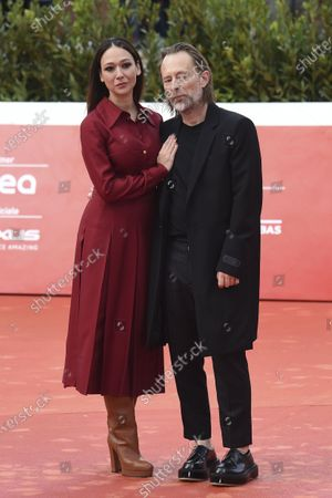 Stock Photo of Thom Yorke, with his wife Italian actress Dajana Roncione, attends the red carpet