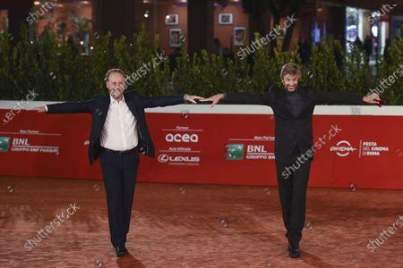 Director Francesco and Bruni Kim Rossi Stuart