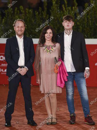 Director Francesco Bruni, Raffaella Lebboroni and Arturo Bruni aka DarkSideBaby