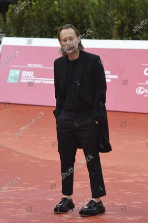 Thom Yorke, frontman of rock band Radiohead, attends the red carpet