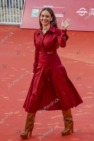 Italian actress Dajana Roncione, Thom Yorke's wife, attends the red carpet