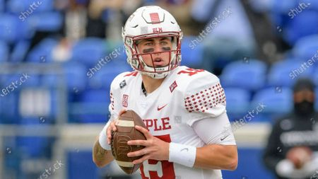 Temple quarterback Anthony Russo (15) throws during an NCAA football game against Memphis on in Memphis, Tenn