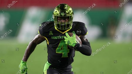 South Florida Bulls wide receiver Omarion Dollison (4) during an NCAA football game on in Tampa, Fla