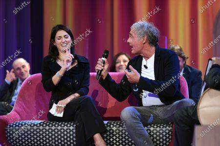 Mayor of Rome Virginia Raggi and journalist Massimo Giletti