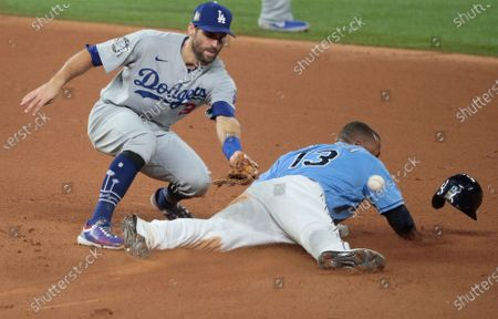 Editorial image of Dodgers and Braves in game five of the World Series at Globe Life Field, Globe Life Field, Arlington, California, United States - 25 Oct 2020