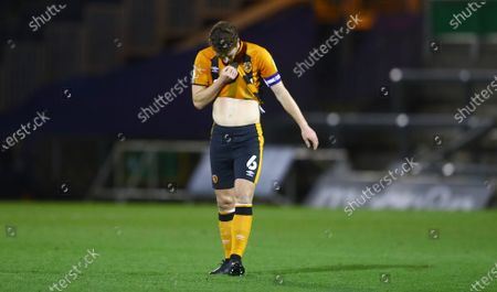 Richard Smallwood of Hull City shows a look of dejection