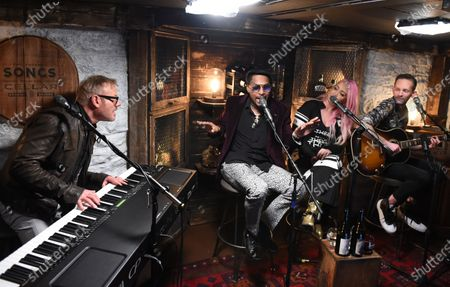 Editorial image of 'Phil Vassar's Songs From The Cellar', BTS with Chingy, Meg & Tyler, Nashville, USA - 26 Oct 2020
