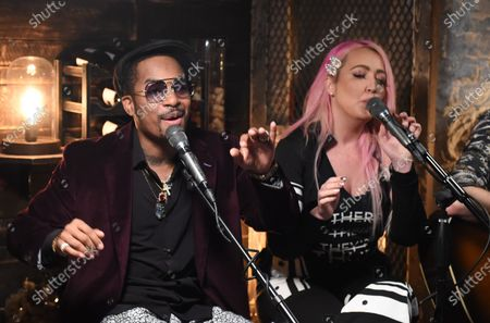 Stock Image of Chingy performs with Meg & Tyler on the set of Phil Vassar's 'Songs from the Cellar' on Circle Television Network, in Nashville, TN. Airing October 29, 2020 on Circle @PhilVassarSFTC @circleallaccess