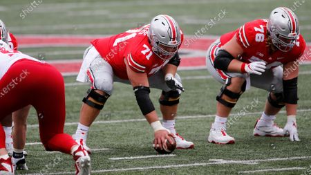 Stock Picture of Ohio State offensive lineman Josh Myers plays against Nebraska during an NCAA college football game, in Columbus, Ohio