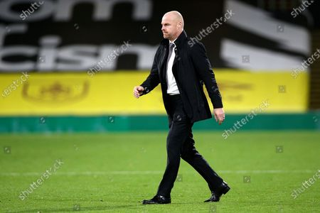 Burnley Manager Sean Dyche during the Premier League match between Burnley and Tottenham Hotspur at Turf Moor, Burnley