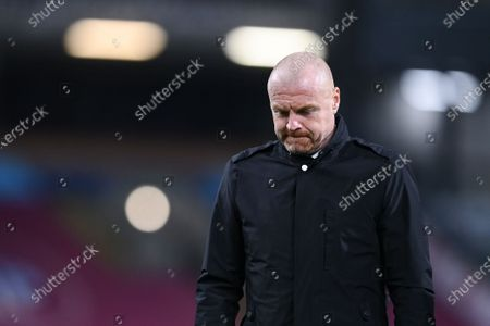 Stock Photo of Head coach Sean Dyche of Burnley during the English Premier League match between Burnley and Tottenham Hotspur in Burnley, Britain, 26 October 2020.