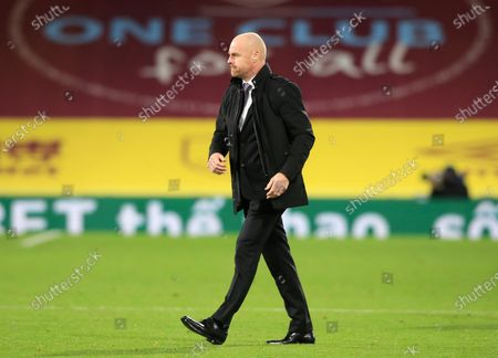 Stock Picture of Burnley's manager Sean Dyche walks from the field following the English Premier League soccer match between Burnley and Tottenham Hotspur at Turf Moor stadium Burnley, England