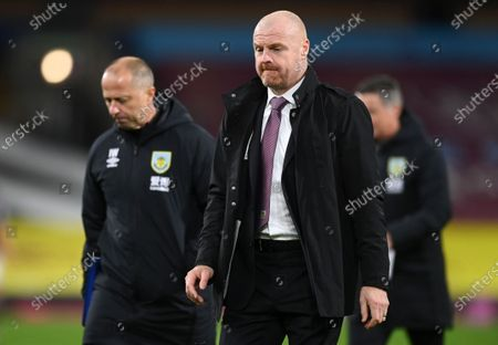Burnley's manager Sean Dyche walks from the filed following the English Premier League soccer match between Burnley and Tottenham Hotspur at Turf Moor stadium Burnley, England