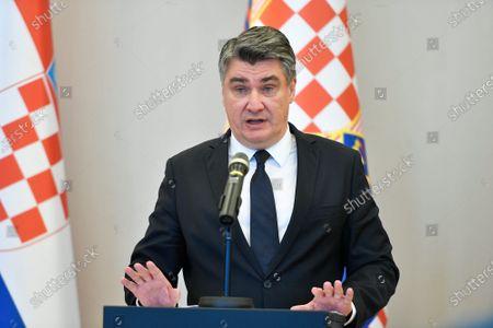 Editorial picture of President Zoran Milanovic press conference, Zagreb, Croatia - 23 Oct 2020