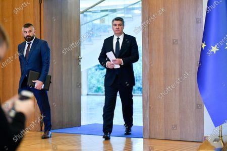 Croatian President Zoran Milanovic held a press conference.