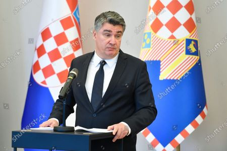 Editorial image of President Zoran Milanovic press conference, Zagreb, Croatia - 23 Oct 2020