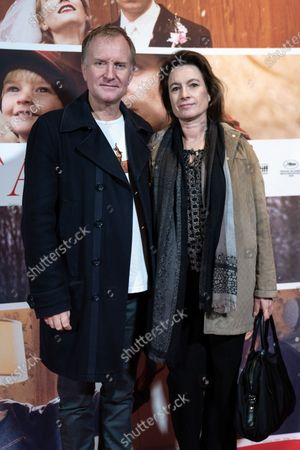 Ulrich Thomsen (L) and his wife Cathrine Ekehed attend the premiere of the film 'Falling' by Danish-US actor Viggo Mortensen in Copenhagen, Denmark, 26 October 2020. The film is Mortensen's debut as director and screenwriter and opens in Danish theaters on 04 November.