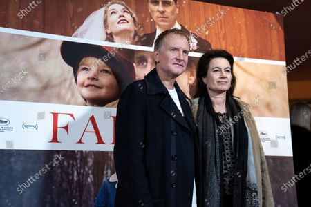 Stock Image of Ulrich Thomsen (L) and his wife Cathrine Ekehed attend the premiere of the film 'Falling' by Danish-US actor Viggo Mortensen in Copenhagen, Denmark, 26 October 2020. The film is Mortensen's debut as director and screenwriter and opens in Danish theaters on 04 November.