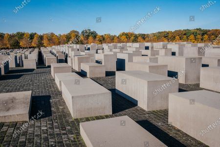 Stock Picture of Memorial to the Murdered Jews of Europe - 2,711 concrete slabs.