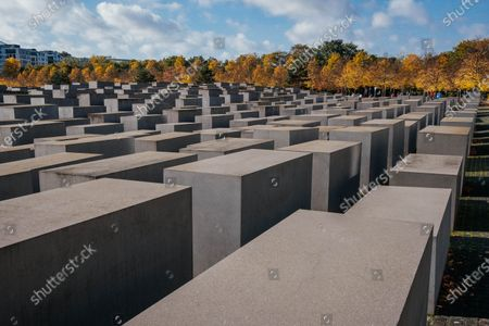 Stock Image of Memorial to the Murdered Jews of Europe - 2,711 concrete slabs.