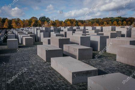 Editorial photo of Memorial to the Murdered Jews of Europe, Platz der Republik, Berlin, Germany - 24 Oct 2020