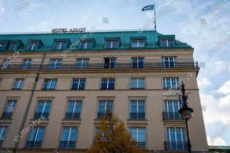 Stock Picture of The Hotel Adlon Kempinski Berlin where Michael Jackson famously dangled his son, Prince Michael II, over the balcony.