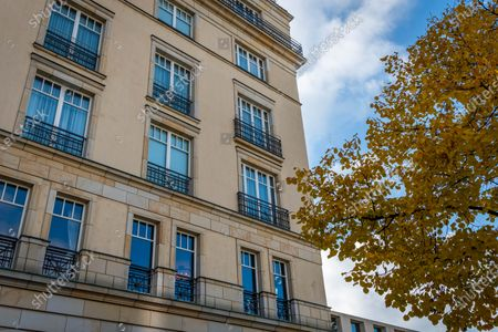 Stock Photo of The Hotel Adlon Kempinski Berlin where Michael Jackson famously dangled his son, Prince Michael II, over the balcony.
