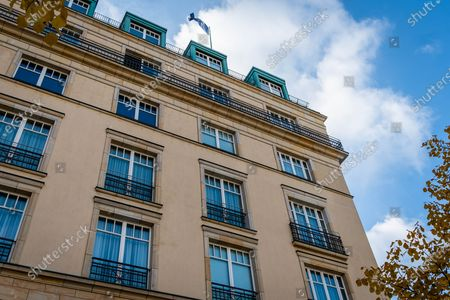 Stock Image of The Hotel Adlon Kempinski Berlin where Michael Jackson famously dangled his son, Prince Michael II, over the balcony.