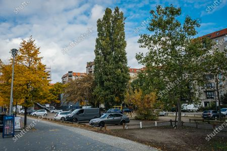 The location of Adolf Hilter's bunker in Berlin which is now a car park.