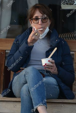 Stock Picture of Exclusive - Katey Sagal eats some frozen yogurt in Brentwood