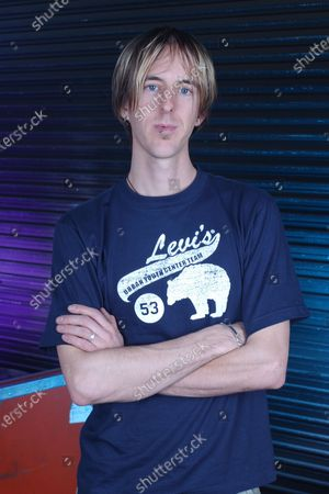 Chris Hesse of Hoobastank poses for a portrait backstage at the Sunrise Musical Theater, Sunrise, Florida, USA - 13 Mar 2002