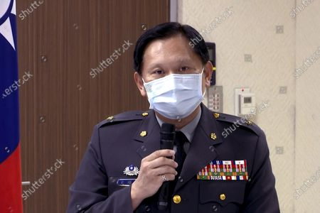 Taiwan's defense ministry spokesperson Shih Shun-wen speaks during a briefing in Taipei, Taiwan on . Taiwan said Tuesday that recent proposed of U.S. sales of missiles and other arms systems will boost the island's ability to credibly defend itself, amid rising threats from China