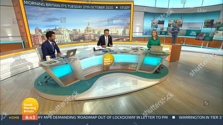 Editorial image of 'Good Morning Britain' TV Show, London, UK - 27 Oct 2020