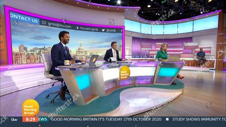 Editorial picture of 'Good Morning Britain' TV Show, London, UK - 27 Oct 2020