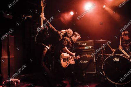 Autry Fulbright, Jason Reece and Conrad Keely of American rock group... And You Will Know Us by the Trail of Dead performing live on stage at The Garage in London, on February 1, 2019. (Photo by Will Ireland/Prog Magazine)