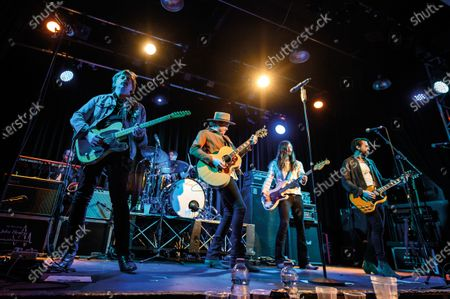 Bill Satcher, Michael Hobby, Graham Deloach and Zach Brown of American country rock group A Thousand Horses performing live on stage at 229 in London, on November 19, 2019. (Photo by Kevin Nixon/Classic Rock Magazine)