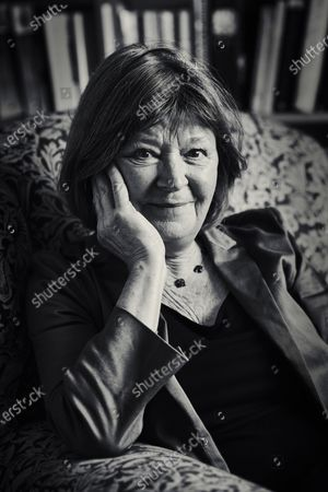 (EDITOR'S NOTE: This image has been converted to black and white) Portrait of English author Jane Rogers photographed at her home in Oxfordshire, England, on October 2, 2019. Rogers is best known for winning the Arthur C. Clarke award for her novel The Testament of Jessie Lamb. (Photo by Olly Curtis/SFX Magazine)