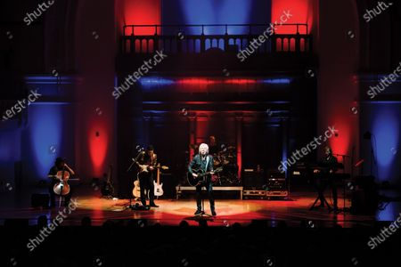English progressive rock musician John Lodge performing live on stage at Cadogan Hall in London, on April 13, 2019. (Photo by Will Ireland/Prog Magazine)