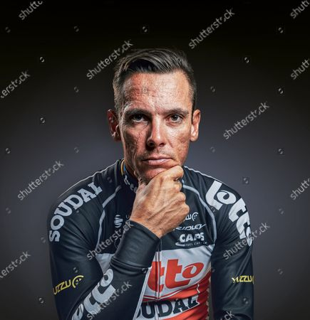 Portrait of Belgian professional cyclist Philippe Gilbert, taken on December 19, 2019. (Photo by Jesse Wild/Procycling Magazine)