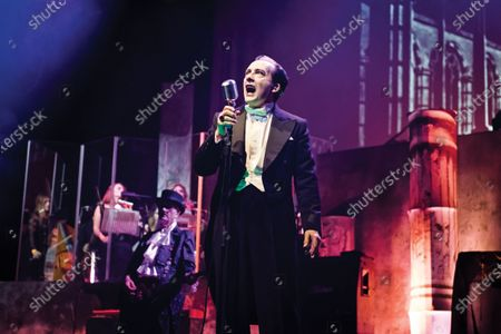 Vocalist Dave Vanian of English punk rock group The Damned performing live on stage at The Palladium in London, on October 28, 2019. (Photo by Will Ireland/Classic Rock Magazine)