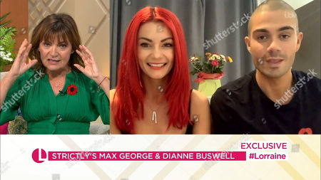 Lorraine Kelly, Dianne Buswell, Max George