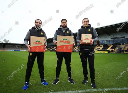 Editorial photo of Burton Albion Football Club Provide 100 Free Lunches to families in need, Pirelli Stadium, Burton upon Trent, UK - 28 Oct 2020