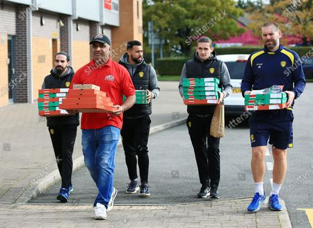 Editorial image of Burton Albion Football Club Provide 100 Free Lunches to families in need, Pirelli Stadium, Burton upon Trent, UK - 28 Oct 2020