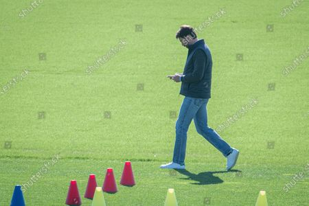 Stock Picture of Juventus training ahead of the Champions League match Juventus Barcelona. Andrea Agnelli.