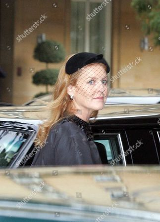 Editorial photo of Sarah Ferguson At Funeral Of Mark Birley Founder Of Annabels Nightclub More Than 500 Mourners Attended Today's Funeral For Mark Birley At The St Paul's Church In Knightsbridge Including Lady Thatcher Prince And Princess Michael Of Kent The Sarah Du
